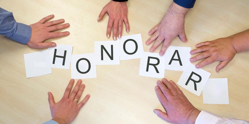 Honorar-Bild mit Händen
